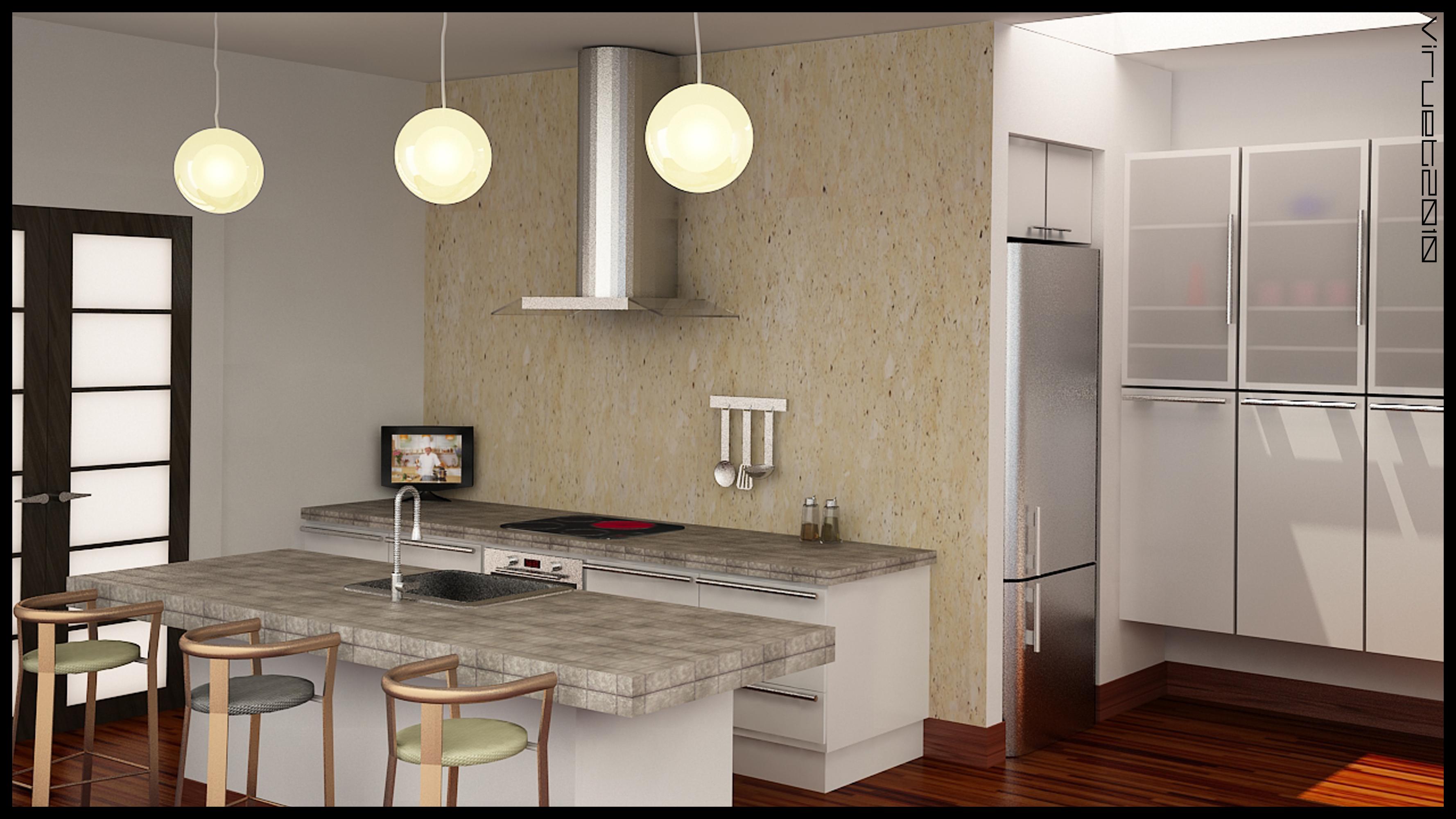 Diseos De Cocinas En 3d. Beautiful D Realizado Para Un Estudio De ...
